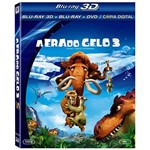 Combo Blu-ray 3D + Blu-ray + DVD a Era do Gelo 3