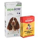 Combo Bravecto Remédio para Carrapato e Pulga em Cachorro 10 a 20kg 500mg e Sabonete Asuntol 80g - Bayer