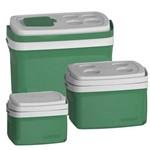 Kit 3 Caixa Térmica 32, 12, 5 L Verde Cooler Soprano