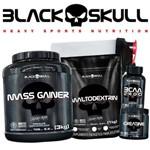 Combo Massa Gainer Monstrous 3kg - Black Skull Hipercalórico