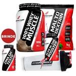 Combo Completo Suplementos Ganho Massa - 100% Whey Wey Way Protein + ZMA + Creatina + Bcaa + Shaker
