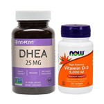 Combo Ddheä 25mg Mrm + Vit D3 5000 Ui 120 Softgels Now Foods