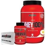 Combo Definição 100% Whey Baunilha + Therma Pro + Porta Caps - Integralmédica