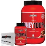 Combo Definição 100% Whey Chocolate + Therma Pro + Porta Caps - Integralmédica