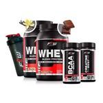 Combo Duplo Whey Protein + Bcaa + Creatina + Coqueteleira