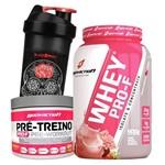 Kit Mulher Whey Protein Feminino 900g + Pre Treino 100g + Shaker
