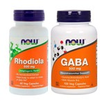 Combo Gaba 500mg 100 Caps + Rhodiola Rosea 60 Caps Now Foods
