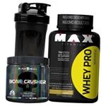 Combo Ganho Massa Muscular Magra - Whey Pro 1kg Concentrado + Bone Crusher Pré Treino Importado