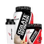 Combo Isolate Definition (900g) + Creatina (70g) + Bcaa (100 Caps) + Coq. - Body Action - Baunilha