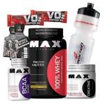Combo Kit 100% Whey Protein Concentrado + Bcaa + Creatina Max Wey