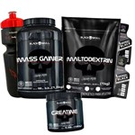 Kit Massa Gainer + Creatina + Maltodextrina