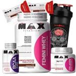 Combo Kit Feminino Massa Muscular Max Titanium para Mulheres