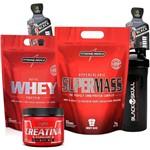 Suplementos para Musculação Ganho Massa Whey Hipercalorico 3kg Creatina