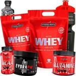 Combo Kit de Suplementos 2x Whey/wey 900g + Bcaa + Pre Treino + Glutamina