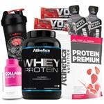Combo Kit Feminino 2x Whey Protein + Colageno Atlhetica