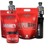 Whey Protein 900g + Hipercalorico 3kg + Creatina Integralmedica