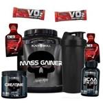 Mass Gainer 3k+bcaa+creatina - Black Skull - Massa Muscular
