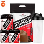 Combo Kit Homem Mulher Suplemento Whey Wey Protein Blend Concentrado Isolado + Creatina + Glutamina
