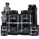 Kit Combo Whey/wey Proten + Massa + Bcaa + Creatina