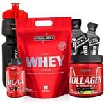 Combo Kit Integralmedica Whey Protein 907g + Colageno 300g + Bcaa