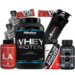 Combo Kit Seca Barriga Whey Wey Way Wei Protein Bcaa L.a Coqueteleira Shaker