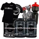 Combo Kit Suplementos Ganho de Massa e Peso – Black Skull