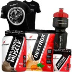 Combo Kit Whey Proten 900g + Dextrose 1kg + Creatina + Camiseta