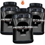 Combo/kit Whey/wei/way/wey Proten Isolado Blend Black Skull