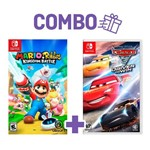 Combo Mario + Rabbids: Kingdom Battle + Cars 3: Driven To Win - Switch