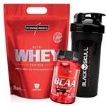 Kit Whey Protein Refil 900g + Bcaa + Copo