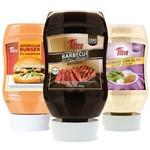 Combo Molhos - Maionese com Alho + Barbecue + American Burger - Mrs Taste