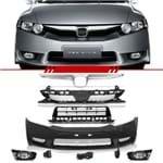 Combo New Civic 2007 a 2008 para 2009 a 2011 Kit Transformacao Dianteira