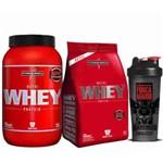Combo Nutri Whey Protein 907g + Refil + Coqueteleira - Integralmédica - Sabor Baunilha