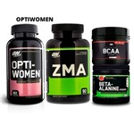 Combo Opti-women 60 + Zma 90+ Bcaa + Beta-alanine On Optimum