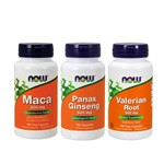 Combo Panax 100 Cp + Maca 100 Cp + Valeriana 100 Cp Now Food