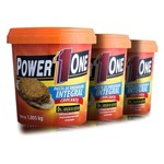 Combo 3 Pastas de Amendoim Crocante 1kg - Power One