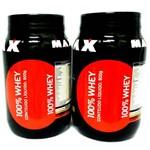 Combo 2 Potes 100% Whey Max (Chocolate) 1800 Gr - Max Titanium