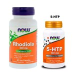 Combo Rhodiola Rosea 60 Caps + 5-htp 100mg 60 Caps Now Foods