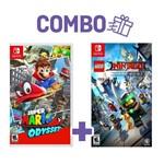 Combo Super Mario Odyssey + LEGO Ninjago Movie Video Games - Switch