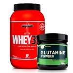 Combo: Super Whey 3W Body Size - 907g - Integralmédica + Glutamina Powder - 600g - Optimum Nutrition