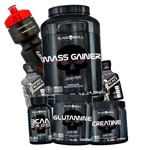 Kit Hipercalorico + Bcaa + Creatina + Glutamina 300g