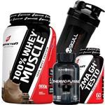 Combo Whey Protein 100% 900g + Termogenico + Zma Testosterona