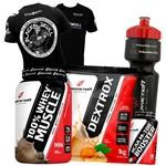 Combo Whey/wey Protein Concentrado + Dextrose + Bcaa + Camisa
