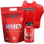 Combo Suplementos Whey/wey Concentrado 900g + Bcaa + Camiseta Regata