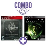 Combo: The Elder Scrolls V Skyrim: Legendary Ed. Great. Hits - Ps3 + Alien: Isolation Nostromo Edition - Ps3