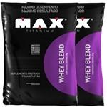 Combo Whey Blend - 2000g - Chocolate - Max Titanium