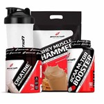 Combo Whey Hammer Cookies 1.8kg Creatina 20days Bcaa M-tor Booster Bodyaction