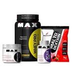 Combo Whey Pro 1kg + Creatina 100 Gr + Bcaa 60 Cápsulas + Maltodextrin 1kg