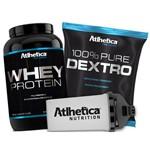 Combo Whey Pro Series 1kg + Dextrose 1kg + Coqueteleira