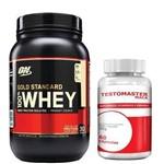 Combo Whey Protein 100% Gold Standard - 909g Baunilha + Testomaster Maca - Intlab